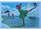 Umetničko klizanje-razglednica putovala 1962.