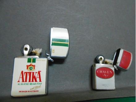 Upaljači  i privesci logo cigareta`ATIKA`i`CRAVEN A`