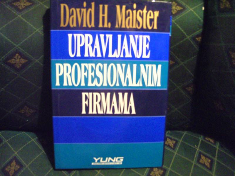 Upravljanje profesionalnim firmama, David H.Maister