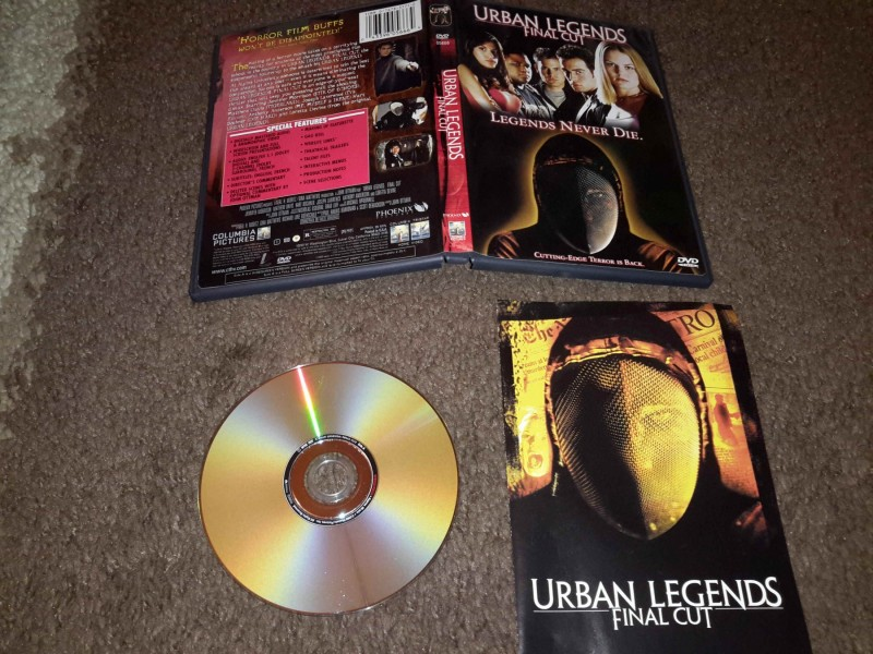 Urban legends: Final cut DVD