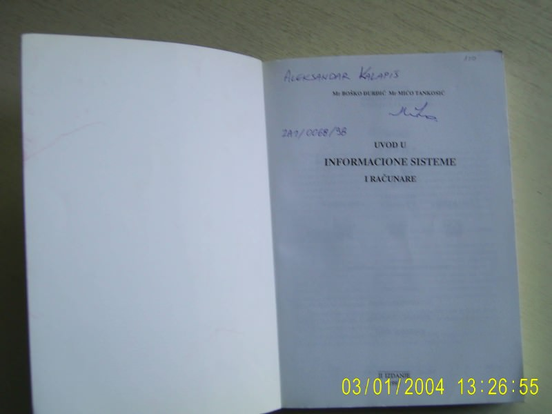 Uvod u informacione sisteme i racunare