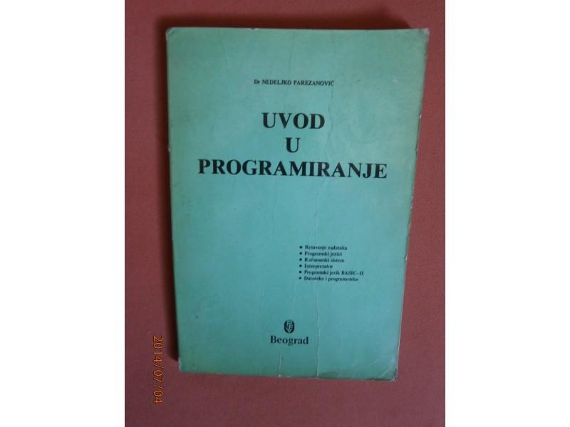 Uvod u programiranje, Nedeljko Parezanovic
