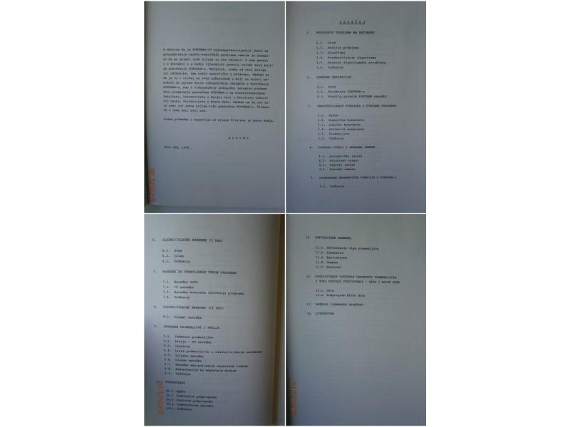 Uvod u programski jezik Fortran, Danilo Obradović