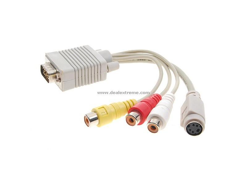 VGA ---> 3 RCA  i  S-Video konverter
