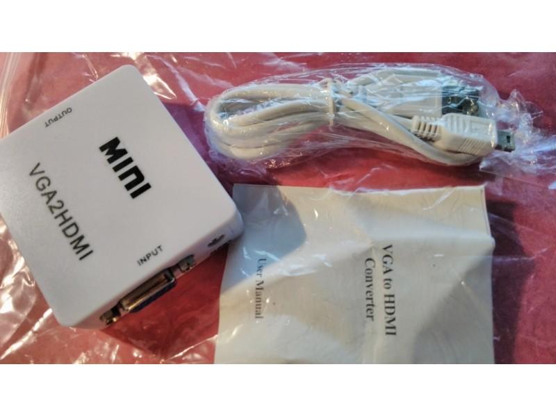 VGA na HDMI Full 1080P HDTV adapter