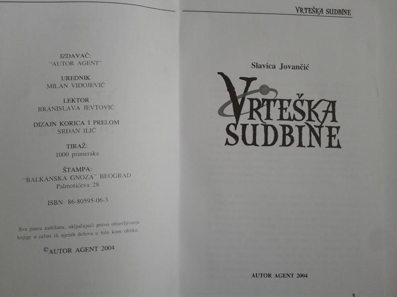 VRTESKA SUDBINE - SLAVICA JOVANCIC