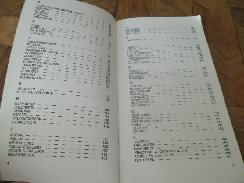 Vademekum katalog lekova 1978