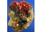 Vanadinit u Limonitu, Maroko, prirodni kamen, kristal