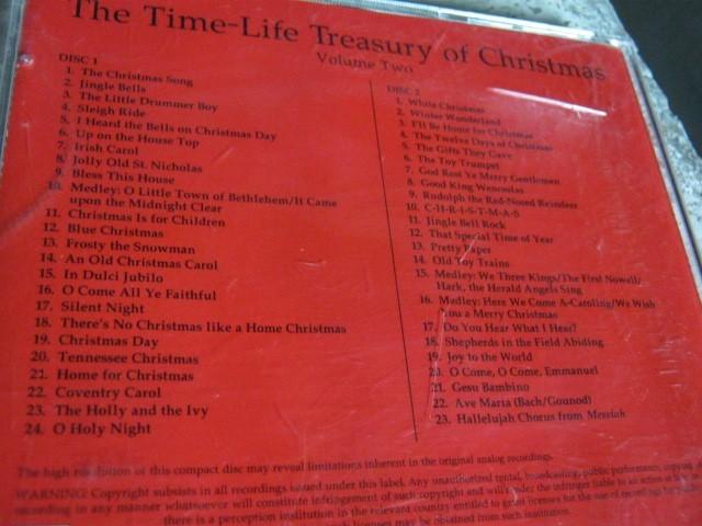 Time Life Treasury Of Christmas.Various The Time Life Treasury Of Christmas 2cdbox