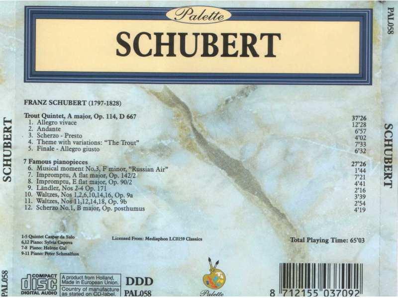 Various  Artists - SCHUBERT