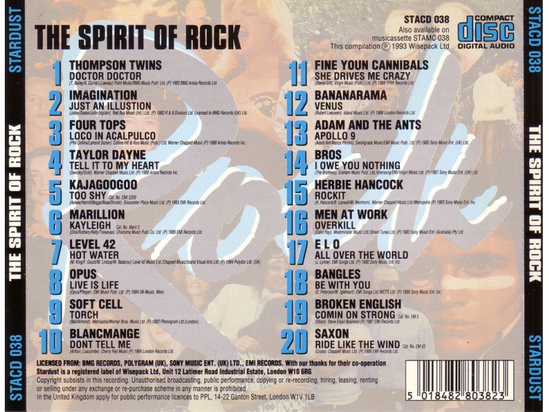 Various  Artists - The Spirit Of Rock