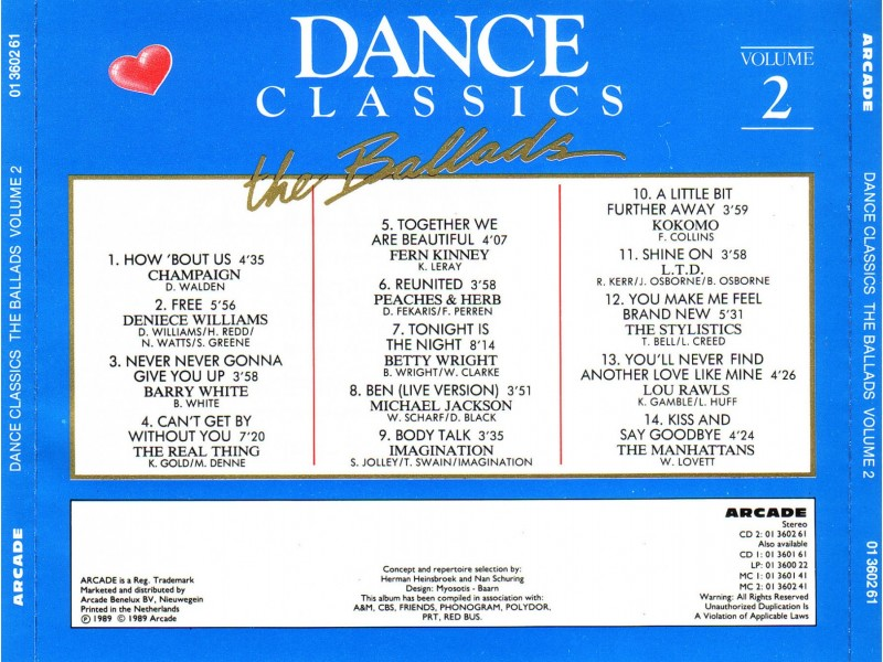 Various - Dance Classics The Ballads Volume 2