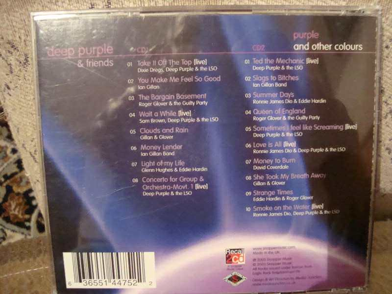 Various - Deep Purple & Friends - Purple And Other Colours