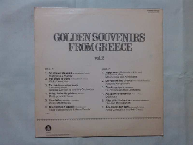 Various - Golden Souvenirs From Greece