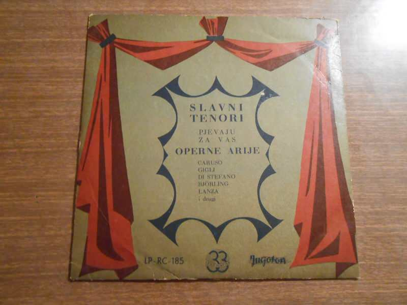 Various - Slavni Tenori Pjevaju Za Vas Operne Arije