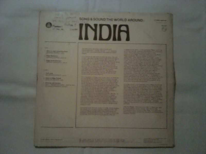 Various - Song & Sound, The World Around: India