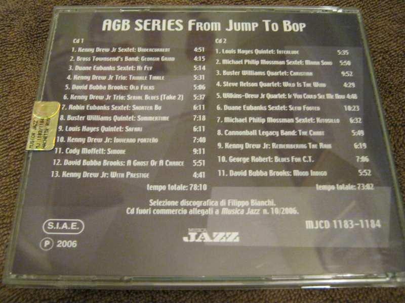 Various artist - ABG SERIES From Jump To Bop