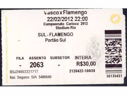 Vasco da Gama - Flamengo   ,   2012.god.