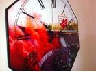 Veliki NOV necujan zidni sat Crvena Zvezda 40 cm
