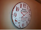 Veliki NOV necujan zidni sat retro 40 cm