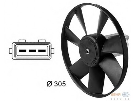 Ventilator hladnjaka motora Audi 100