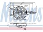 Ventilator hladnjaka motora Fiat Idea