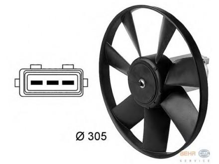 Ventilator hladnjaka motora  VW Jetta I II