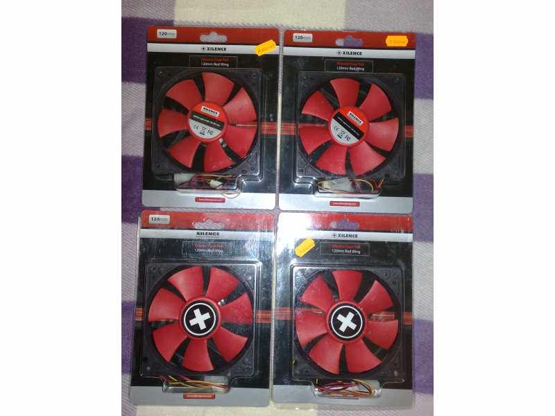 Ventilatori Xilence 12 Cm Red Wing!4 komada!Novo!