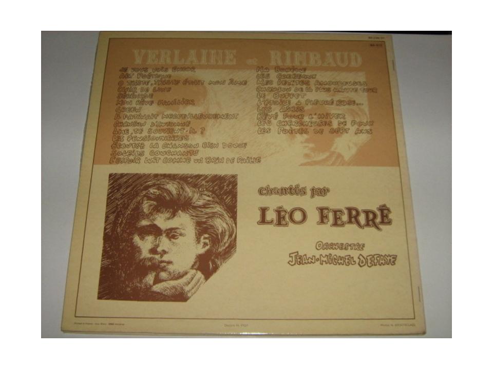 Verlaine Et Rimbaud Chantés Par Léo Ferré (2LP)