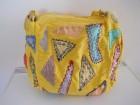 Vesela žuta šarena platnena letnja torba na rame