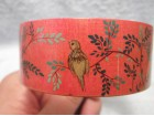 Vintage ručno oslikana drvena narukvica, ptice