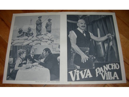 Viva Pancho Villa, 1972., T. Savalas - filmski program