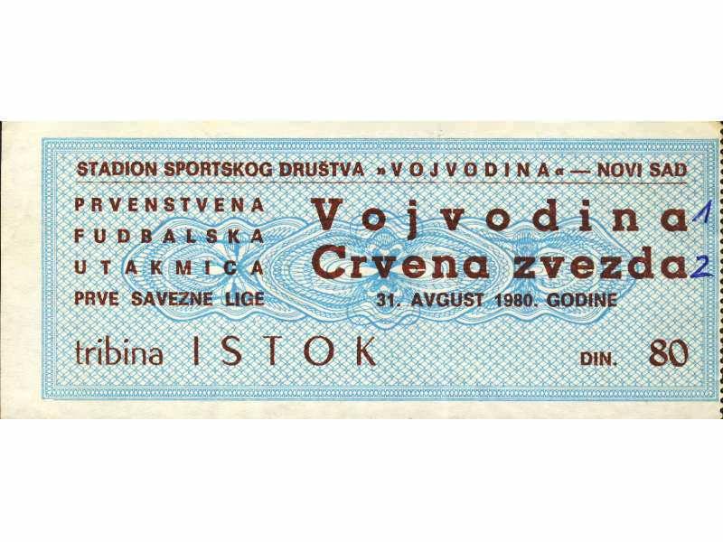 Vojvodina - Crvena Zvezda   ,   1980.god.