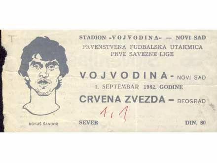 Vojvodina - Crvena Zvezda   ,   1982.god.