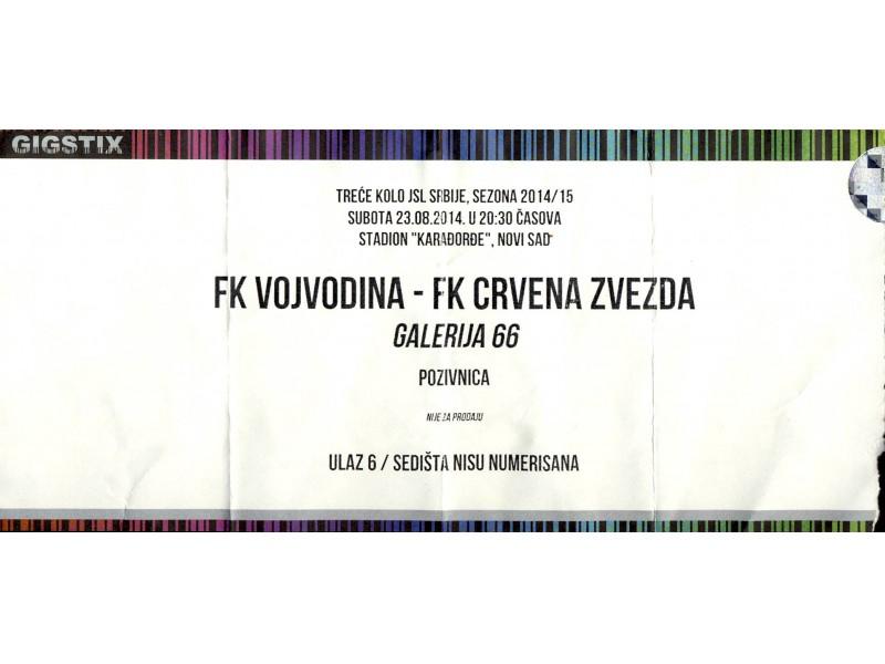 Vojvodina - Crvena Zvezda , 2014.god.