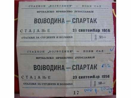 Vojvodina-Spartak,1956,dupla karta