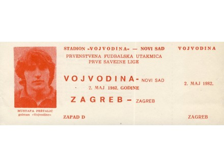 Vojvodina - Zagreb , 1982.god.