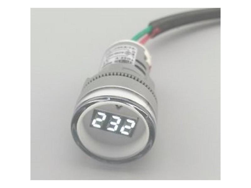 Voltmetar AC 60-450V beli displej - 22mm