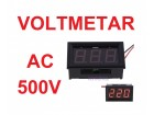Voltmetar AC 70-500V crveni displej