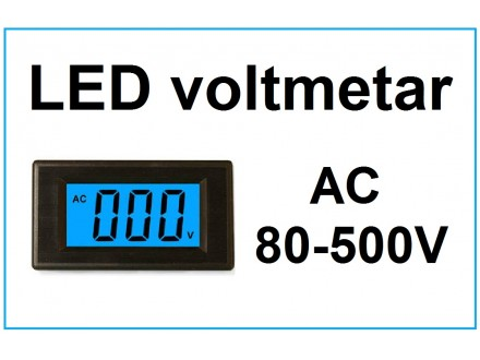 Voltmetar AC 80-500V plavi displej
