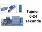 Vremenski rele - tajmer - 0-24 sekunda + USB