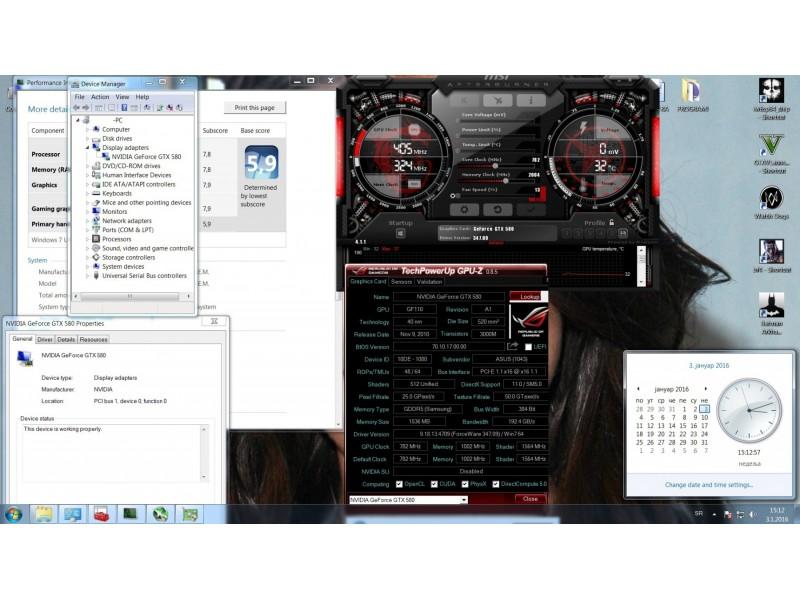 Vrhunska gejmerska graficka Asus Gtx 580 TriSlot!DCU II