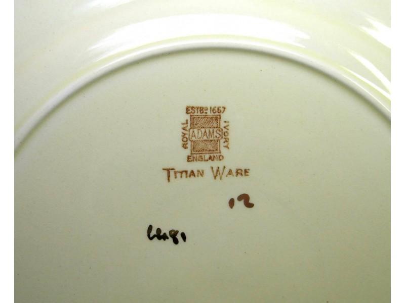 W. ADAMS & SONS, England - Servis  TITIAN WARE