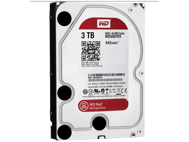 WD 3TB Red 64mb SATA 6.0 WD30EFRX HDD 3.5` wdc