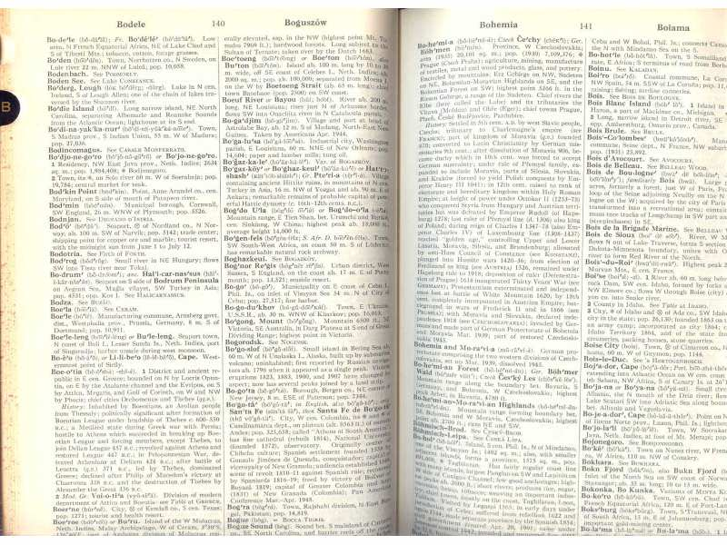 WEBSTER`S  GEOGRAPHICAL DICTIONARY