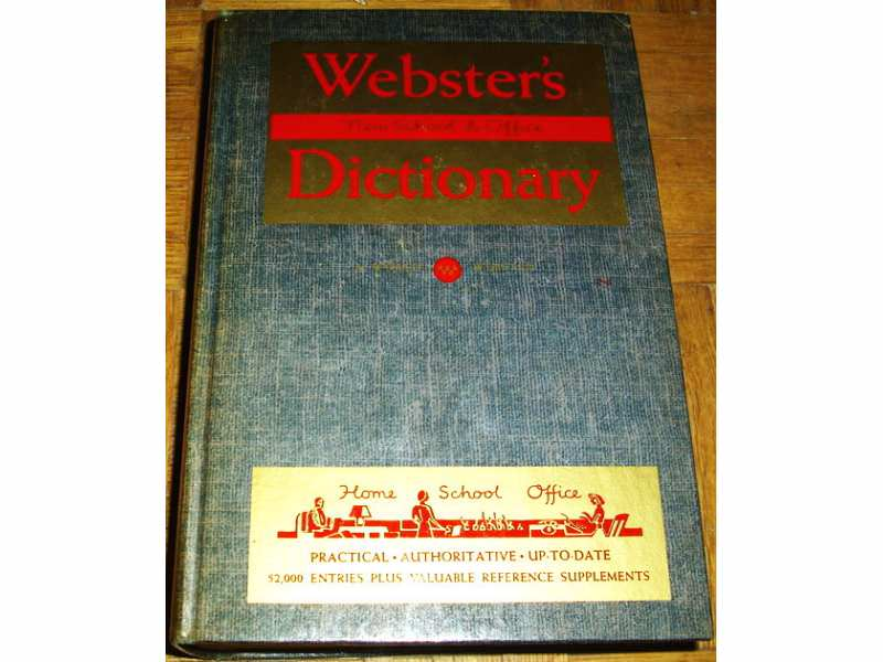 WEBSTER`S NEW SCHOOL & OFFICE DICTIONARY