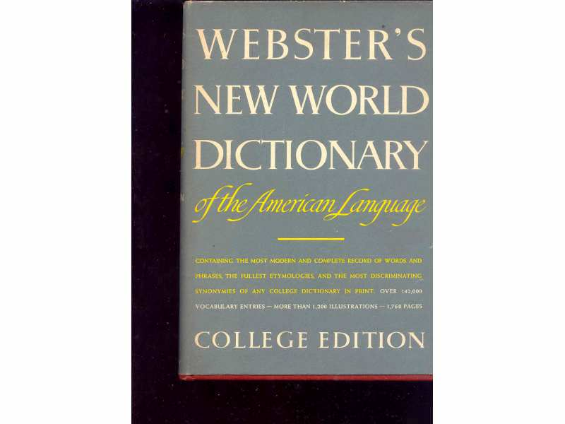 WEBSTER`S NEW WORL DICTIONARY -COLLEGE EDITION