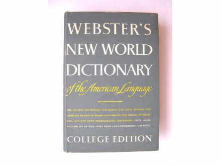 WEBSTER`S NEW WORLD DICTIONARY of the American language