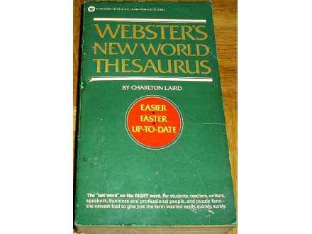 WEBSTER`S NEW WORLD THESAURUS - Charlton Laird