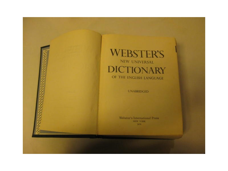 WEBSTERS NEW UNIVERSAL DICTIONARY